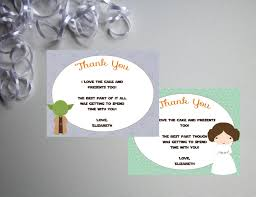 printable thank you cards princess princess leia thank you cards printable diy instant download