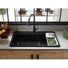 Single Bowl Kitchen Sink Top Mount Kohler 33 X 22 X 9 5 8 Top Mount Single Bowl Kitchen Sink With