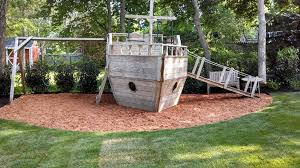 Wood Backyard Playsets by Looking Wooden Playset In Kids Beach Style With Playground