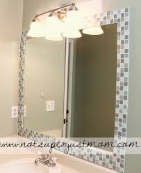 Mirrored Bathroom Wall Tiles - best 25 tile mirror frames ideas on pinterest tile mirror