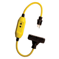 shop shock buster 2 ft 15 amp 120 volt 3 outlet 12 gauge yellow