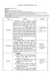 worksheet lesson plan colours for kids
