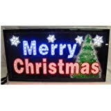 80 x 6 merry led lighted banner
