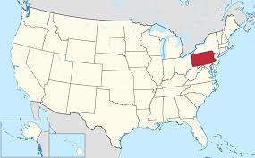Pennsylvania Maps by United States Of America Map And Pennsylvania State Territory