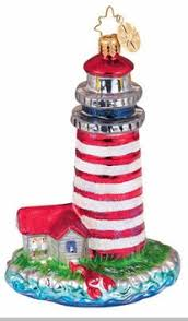 christopher radko maine attraction ornament lighthouse ornaments