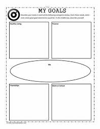 setting goalsworksheets