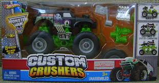 monster truck power wheels grave digger amazon com wheels monster jam custom crushers grave digger