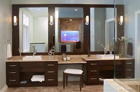Stunning Contemporary Dark Wood Bathroom Vanity Home Design Lover - Bathroom vanity designs pictures