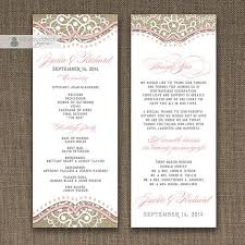 sided wedding programs 26 best digibuddha menus wedding programs images on