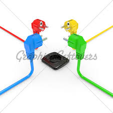 electric plug gl stock images