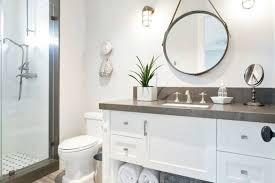 lighting in bathroom for round mirror interiordesignew com