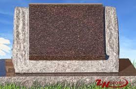 headstone markers unique design tiger granite brown color slant headstone