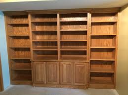 Oak Bookcases With Doors by Valley Custom Cabinets Basement Remodel
