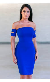 royal blue dress royal blue cocktail dress blue dress shoulder pencil