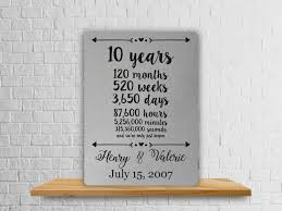 10 year anniversary gift husband 10th anniversary gift tenth anniversary gift husband gifts