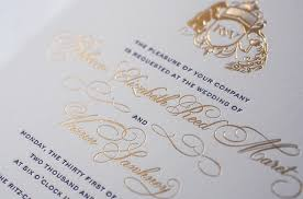 wedding program sles gold foil wedding invitations marialonghi