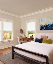 Gray Walls With White Trim by Bedroom Wall Molding Bedroom Beach Style With Unframed Art White Trim