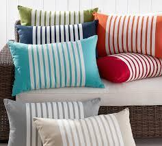 mariner stripe indoor outdoor pillow pottery barn