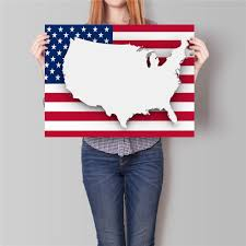 United States Map Wall Art by Online Get Cheap Usa Poster Map Aliexpress Com Alibaba Group