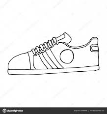 sketch of sport shoes sneakers for summer vector stock