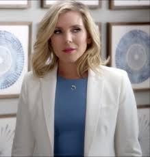 june diane raphael wears royal blue dress beautiful for