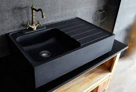 Black Apron Front Kitchen Sink by Get Stoned 11 Incredible Kitchen Sinks Made From Rock