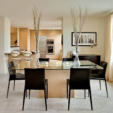 Contemporary Dining Rooms by Sleek Contemporary Dining Room In Brown And Beige So Into Decorating