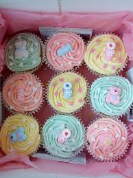 pastel cupcakes for a baby shower party love baby babyshower