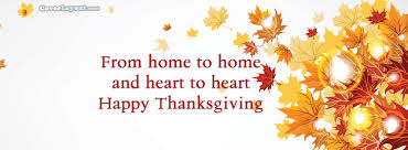 from home to happy thanksgiving cover from home to
