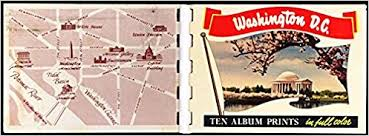 washington dc photo album washington d c 1958 miniature souvenir photo album george