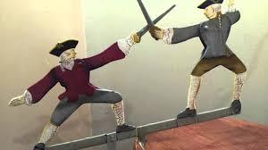 vintage balance dueling swordsmen