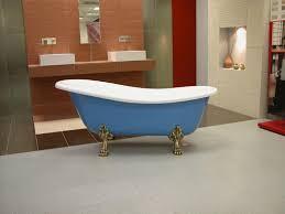 badezimmer jugendstil freistehende luxus badewanne jugendstil roma hellblau weiß altgold