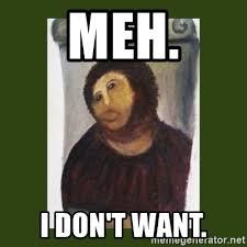 Monkey Jesus Meme - meh i don t want monkey jesus meme generator