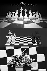 chess set designs ghost a novelty chess set design design