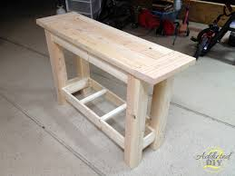 diy entryway table plans rustic x console table interesting style diy console table plans