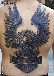 eagle back tattoo designs page 4