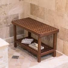 Teak Shower Bench Corner Our Teak Corner Shower Seat With Basket Provides Comfort And