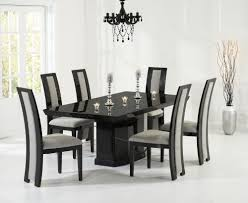 black marble dining room table buy mark harris como black constituted marble dining set with 6