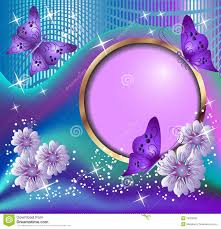 round frame flowers and butterflies stock photography image