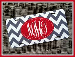 monogrammed plate personalized monogrammed license plate car tag monogram