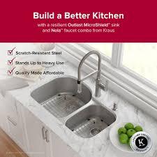 scratch resistant stainless steel sink kraus outlast microshield scratch resist stainless steel undermount