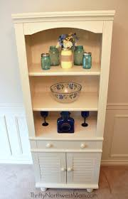 sauder harbor view bookcase with doors antique white 30000 with