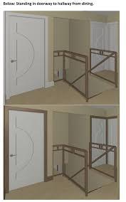Modern Door Trim Stained Trim And Painted Doors 3d Renderings Attached Floor