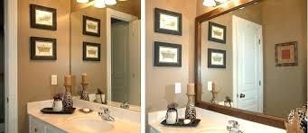 Bathroom Mirror Frame Kit Bathroom Mirror Frames Custom Mirror Frames By Bathroom Mirror