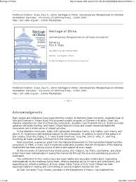 heritage of china contemporary perspectives on chinese