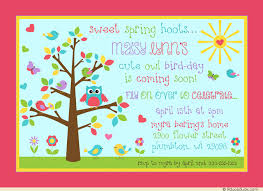 spring bird day invitation cute birdies u0026 owl birthday