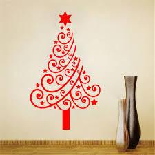 christmas tree sticker wall christmas lights decoration large size christmas tree display window diy wall stickers removable for store glass door 60