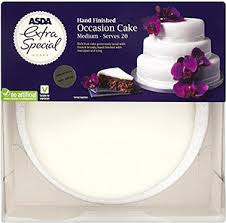 wedding cake asda asda special finished medium iced fruit occasion cake
