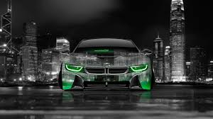 Bmw I8 Green - 4k bmw i8 front crystal city car 2014 el tony