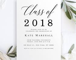 college grad announcements college graduation announcement etsy